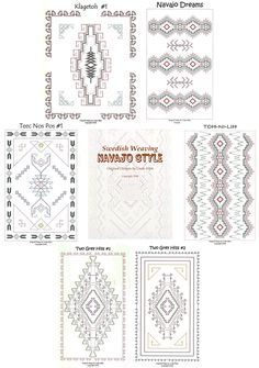 Swedish Weaving Navajo Style by Linda Allen (All 6 Patterns) - Click Image to Close
