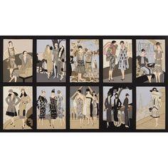 Bavlna Glamour Girls - panel | Ostatní vzory Robert Kaufman Fabrics | Důmlátek.cz - látky a metráž