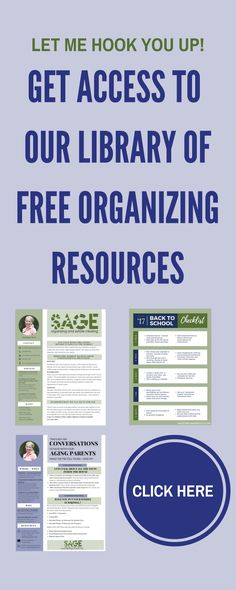 free resources for organizing