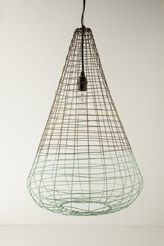 Small Woven Wire Pendant Lamp - Anthropologie.com
