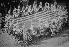 HOME FRONT: Liberty Girls parade in the colors for bond raising promotion, 1917.