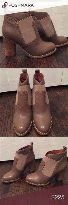 Brand new Marc Jacobs booties size 6.5 Brand new Marc Jacobs booties size 6.5.  Light scuff at the bottom from trying on.  Beautiful color.  Great addition to your fall/winter wardrobe.  Goes great with jeans, leggings and dresses. Marc by Marc Jacobs Shoes Ankle Boots & Booties