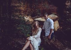 """Into The Woods - A Bohemian Bridal Fashion Editorial Featuring Tara Lauren """"Harlow"""" gown"""