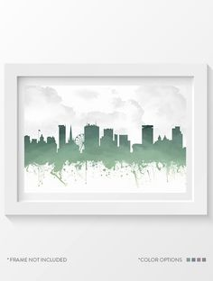 Birmingham England Skyline Poster Home Decor Gift by Agedpixel