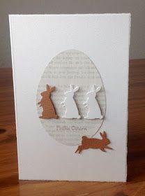 """kartki wielkanocne z stemplem """"Bunny Buddies"""" przez poppystamps, znaczek podpis """"Happy Easter"""" SU"""