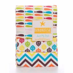 Bananafish Studio Receiving Blanket, 3-Pack, Orange/Brown