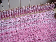 Peg loom rug - work in progress.