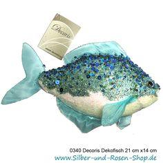Dekofisch Glitzer blau türkis