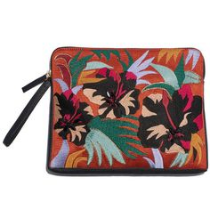 Safari Clutch, Cuban Hibiscus ($398) ❤ liked on Polyvore featuring bags, handbags and clutches