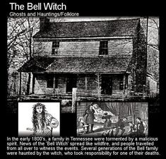 The Bell Witch Haunting The Shocking True Story Spooky Stories, Ghost Stories, Horror Stories, Spooky Places, Haunted Places, Creepy Facts, Creepy Things, Scary Stuff, Random Stuff