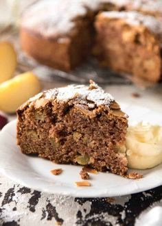 Hands down, the easiest and BEST Apple Cake recipe you will ever try! Made with fresh apples, no electric mixer required to make this beautiful moist cake. Moist Apple Cake, Easy Apple Cake, Apple Cake Recipes, Pear Recipes, Baking Recipes, Easy Desserts, Delicious Desserts, Dessert Recipes, Sweets Recipe