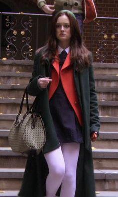 Gossip Girl - red blazer & green coat