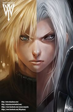 yeah I know it's not anime technically but it's still really cool. Cloud Strife & Sephiroth Final Fantasy VII Split 11 by Wizyakuza