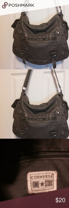 Pocketbook Large Tote with plenty of room. Has side pockets. Never used. Color is taupe. Very soft pocketbook. Converse Bags Shoulder Bags