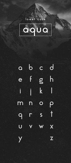 Free Minimal Font - Aqua