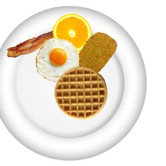 Breakfast Plate, Create Yourself, Waffles, Plates, Food, Licence Plates, Dishes, Griddles, Essen
