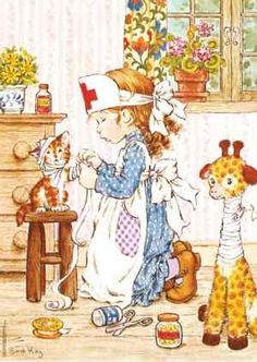 Holly Hobbie and Sarah Kay ruled in the late and early Diaries, stationary.even clothing got influenced by them. Sarah Key, Holly Hobbie, Decoupage, Creation Art, Crazy Cat Lady, Vintage Cards, Vintage Postcards, Vintage Children, Cute Art