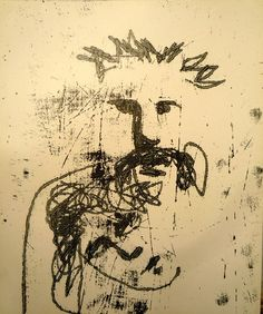 SIDNEY ROBERT NOLAN (1917–1992) Untitled  inks on paper.. monoprint with charcoal to verso 30.5 x 25.5cm