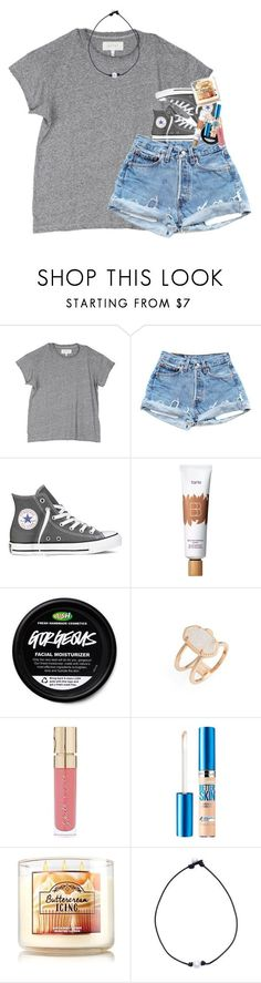 """road trip to nola!!"" by classynsouthern ❤ liked on Polyvore featuring The Great, Converse, tarte, Kendra Scott, Smith & Cult and Maybelline"