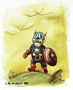 Captain America Winnie The Pooh Style