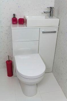 New Bathroom Shower Tub Space Saving Ideas Tiny Bathrooms, Tiny House Bathroom, Bathroom Toilets, Bathroom Small, Compact Bathroom, Bathroom Pink, Cloakroom Toilet Small, Attic Bathroom, Small Toilet Room