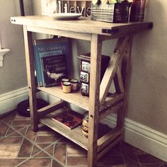 The rustic Half-X Entry Table by Mad Raven Woodworks