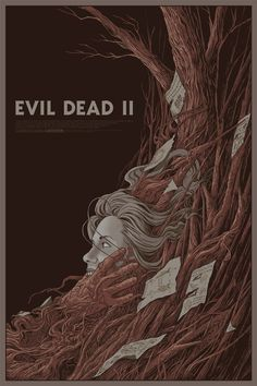 Carnage and Evil Dead II Posters by Randy Ortiz (Artist Copies Onsale Info) - OMG Posters! Horror Movie Posters, Horror Films, Horror Art, Evil Dead Movies, Scary Movies, Fan Poster, Movie Poster Art, Doctor Who, Omg Posters