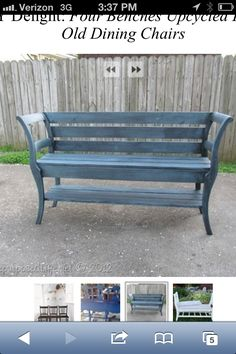 Bench made from chairs