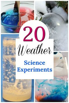 Easy science experiments about the weather for kids! These are such cool STEM activities about the seasons science STEM preschool weather teaching parenting 145593000440092116 Weather Experiments, Weather Science, Science Experiments For Preschoolers, Science For Kids, Teaching Weather, Teaching Science, Science For Preschoolers, Weather Kindergarten, Summer Science
