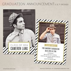 Senior Graduation Announcement Template for by OtoStudio on Etsy, $8.00
