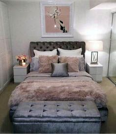 Grey and Pink Bedroom ideas Interesting Design Ideas Pink And Grey Bedroom White Gray Decor Blush Be Bedroom Ideas For Teen Girls Grey, Teenage Girl Bedroom Decor, Grey Bedroom Decor, Small Room Bedroom, Trendy Bedroom, White Bedroom, Gray Decor, Small Rooms, White Decor
