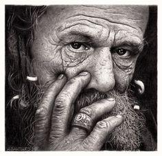 figurative - Old Man by Arif Bahtiar