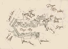 Map of Diagon Alley.