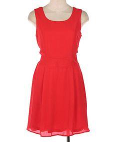 Look at this #zulilyfind! Red Sleeveless A-Line Dress by Hello Miss #zulilyfinds