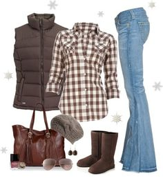 Fall outfit :) - minus the shoes. I fully agree. I am not a fan of Ugg boots.  I prefer Mukluks, though with this outfit I would have to go with a pair of Doc Martins :)
