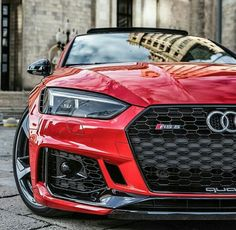 Elegant Red Audi ready to cruise with this nice car Beautiful and nice automobile Highend luxury sport cars Audi Rs5 Coupe, Rs6 Audi, Audi S5, Audi Sport, Sport Cars, Audi Quattro, Bmw 335i, Carros Audi, Best Luxury Cars