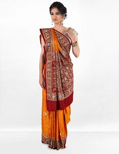 Silk saree, with remarkable work all over, sparkling in out 'G3 Exclusive' collection. Product code - G3-WSA9065 Price - INR 13020/-