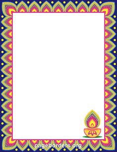Free diwali border templates including printable border paper and clip art versions. File formats include GIF, JPG, PDF, and PNG. Vector images are also available. Frame Border Design, Page Borders Design, Photo Frame Design, Border Templates, Vector Border, Borders For Paper, Borders And Frames, Borders Free, Decoupage