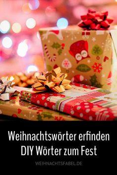 Zu Weihnachten wird etwas selbst gemacht. Das kennen wir alle, ob man es mag oder nicht. Aber wer Strohsterne flicht, Plätzchen backt oder Geschenke bastelt, der kann das auch mit Wörtern tun. Einfach sich selbst ein paar neue erschaffen, die es so vorher noch nicht gegeben hat. #weihnachten #wörter #DIY