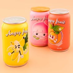 Angry Fruit Soft Drinks Squishy
