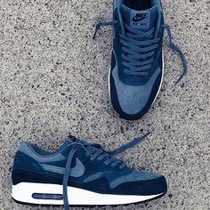 Nike Air Max 1 Essential: Armoury, Slate Navy www.nikeairmaxshoppingonline.com nike shoes,fashion nikes for women,save up to 75%
