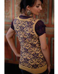 Ladies Jacquard Sweater Vest Pattern - Knitting Patterns and Crochet Patterns from KnitPicks.com
