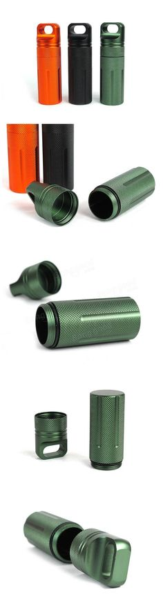 Outdoor CNC Waterproof Pill Storage Case EDC Seal Canister Survival Emergency Container Sale - Banggood.com