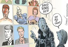 Cartoon: Mourning David Bowie - The New York Times