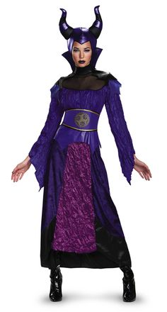 Maleficent Descendants Ladies Costume - Set your plan in motion to get off the Isle of the Lost with this officially licensed Descendants Maleficent costume. This unique dress have taffeta, pleather and mesh to give it its look. It also comes with belt and character headpiece. Have lots of fun this Halloween going out with your daughter as Mal. #yyc #Calgary #Maleficent #Descendants