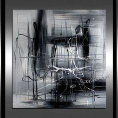 Kunst Malerei Shades of Black 36 große