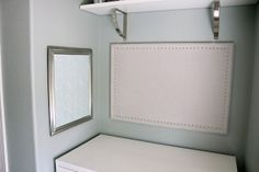 DIY Linen Bulletin Board with Nailhead Trim
