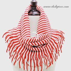 Red & White Stripe Infinity Scarf! Get yours on www.theliqtees.com!