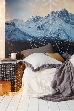 Chic Modern Home Decor Dream Rooms, Dream Bedroom, Hipster Bedroom Decor, Hipster Rooms, Room Goals, Of Wallpaper, My New Room, House Rooms, Diy Home