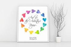 LGBT Wedding, Mrs and Mrs, Gay Wedding Gift, Lesbian Pride, Wedding Print, Gay Marriage Gift, Lesbian Engagement, LGBT Poster, Love Wall Art by CraftyCowDesign